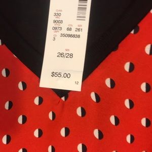 NWT Red Avenue blouse 26/28